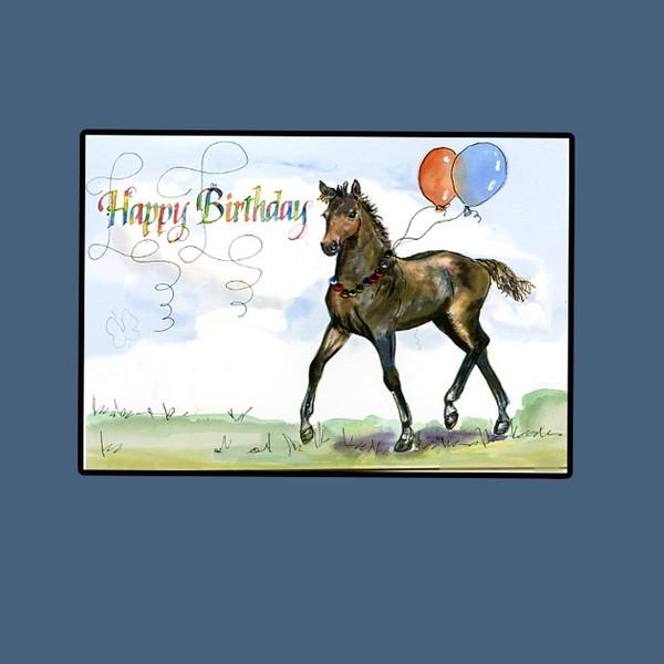 happy birthday horse cardhilary williams  artwanted