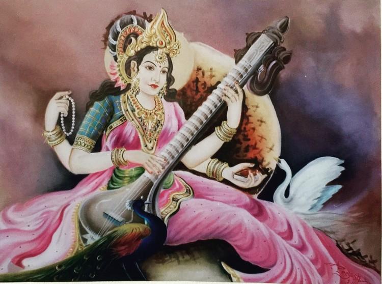 Indian Goddess Saraswati ji