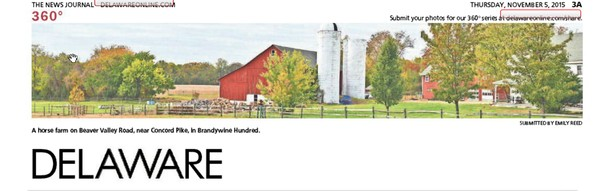 264th News Journal Panorama-Horse Farm