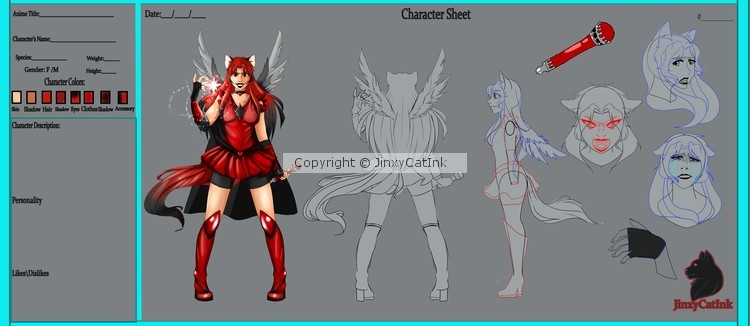 Finished Character reference Sheet