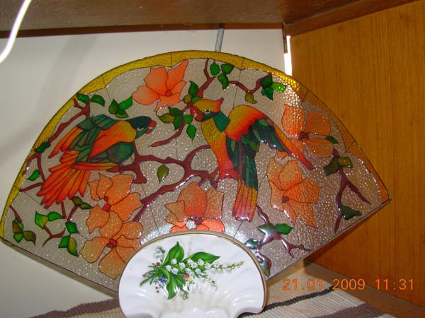 glass painting lamp shade