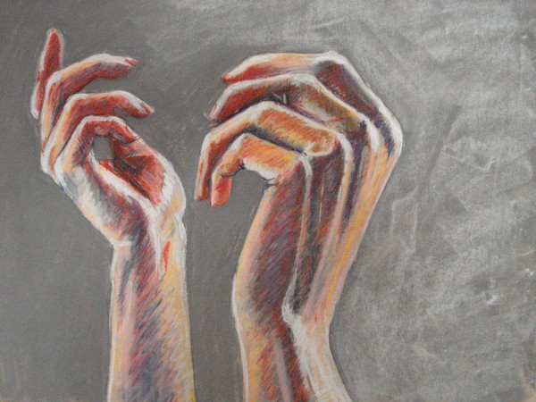 Pastel Hands By Zachary Goodson