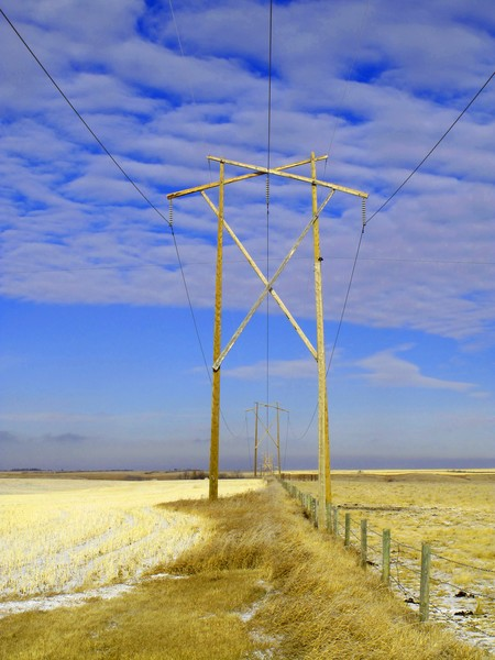 Power Lines across the Prairie-6398