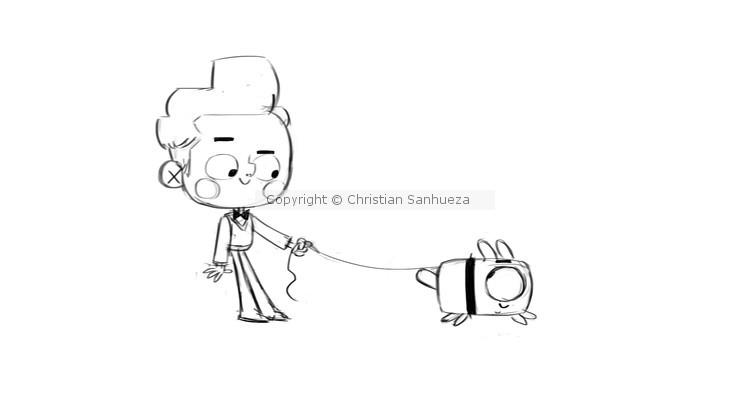 Scene: Boy and his pet
