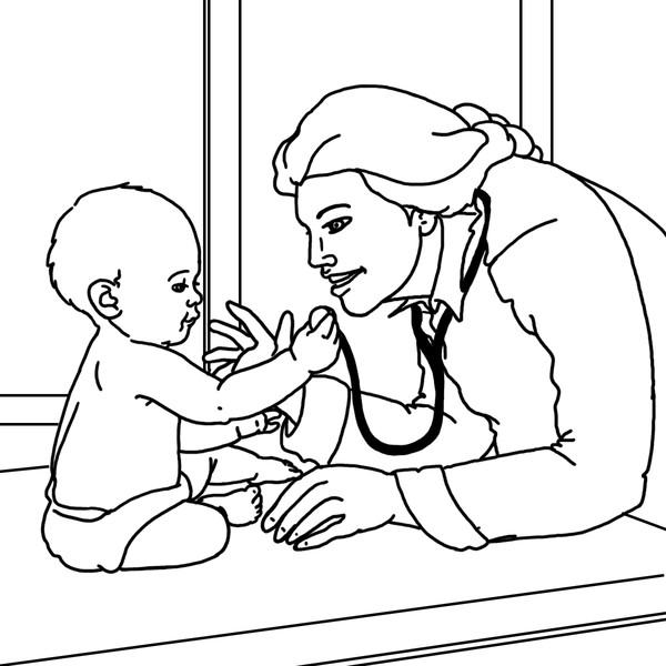 Pediatrician by Laura Horning | ArtWanted.com