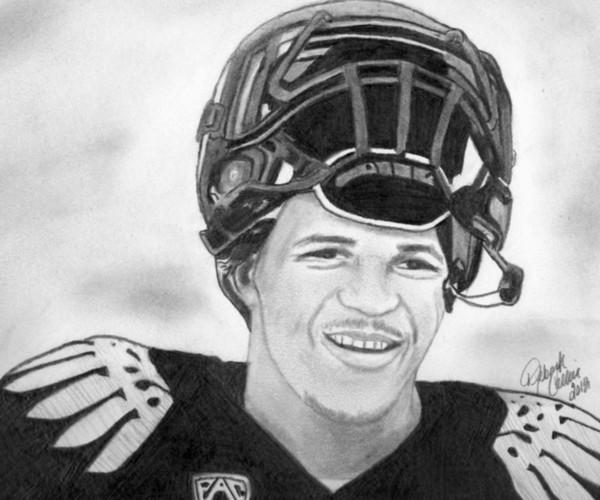 Oregon Football Player LaMichael James by debbie collier | ArtWanted.