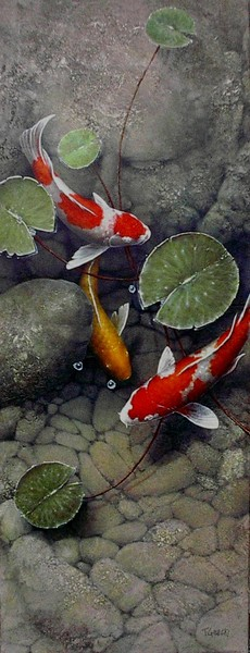 Memory pond by terry gilecki for Pond fish wanted