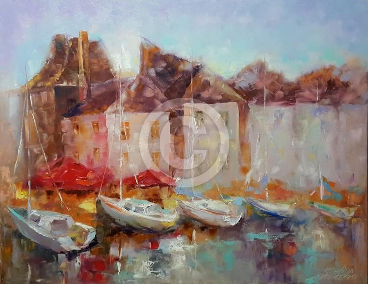 painting*Normandie. Romantique Honfleur*