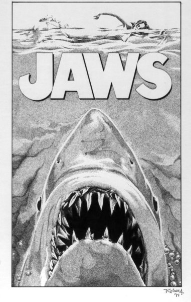 Jaws by francisco rivera for Jaws coloring pages