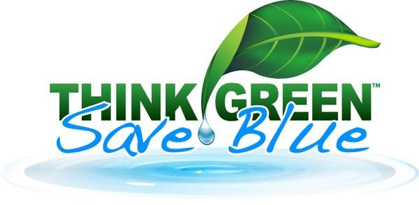 Think Green Logo Think Green Save Blue Logo