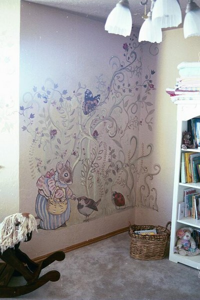 Beatrix potter mural by adria gamble hanson for Beatrix potter mural