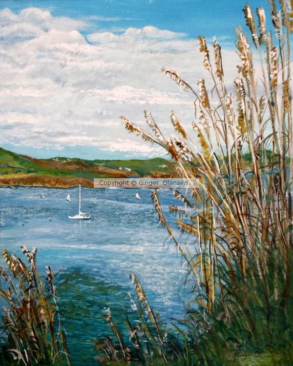 Boating Day in Portscatho Harbor, Uk
