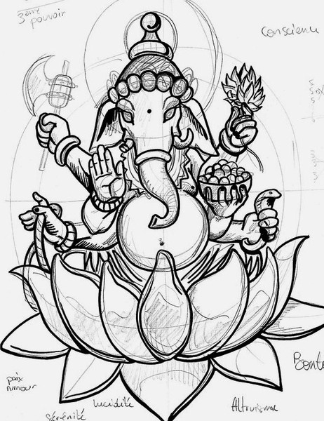 Displaying (19) Gallery Images For Ganesh Drawing...