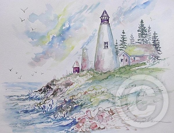 Lighthouse by Ginger Olansen (SOLD)