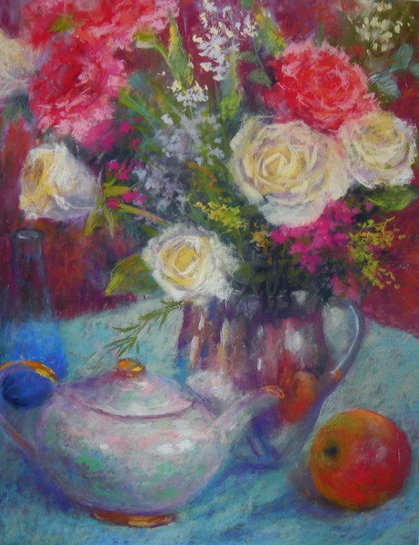 Still life with roses and carnations