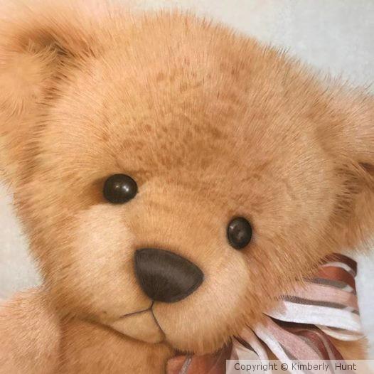 Colored Pencil Teddy Bear Art