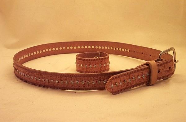 Matching belt and wrist band