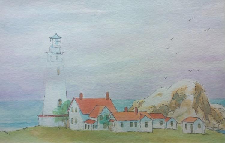 study of piedras blancas lighthouse, central ca.