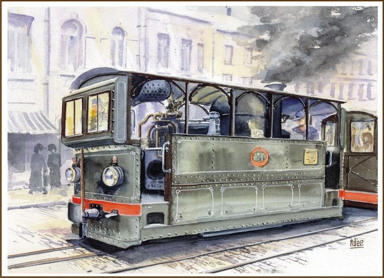 Urban steamtram (arround 1900)