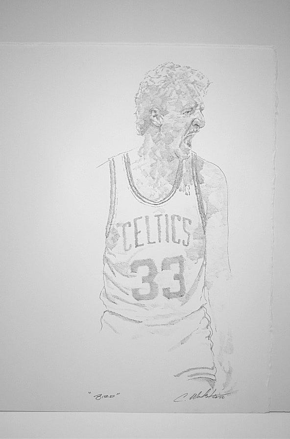Boston Celticu0026#39;s Larry Bird By Chris Walster | ArtWanted.com