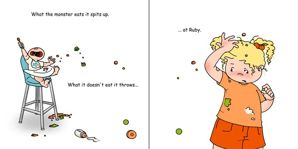 Ruby's Little Monster- Dinner