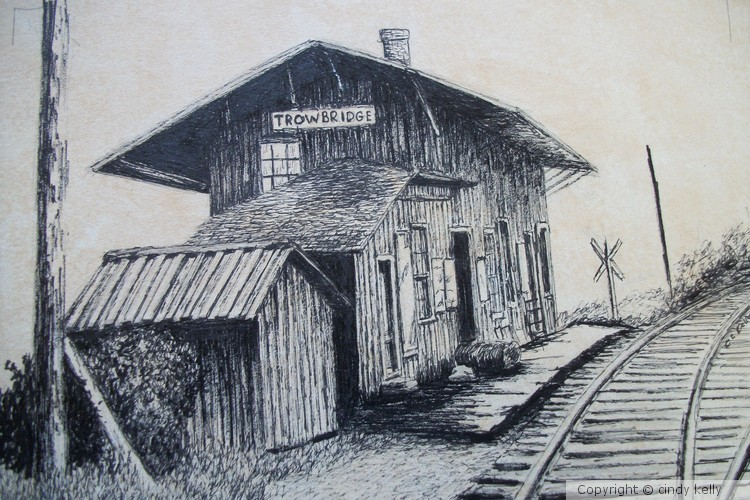 Trowbridge Rail Road Station Millerton PA