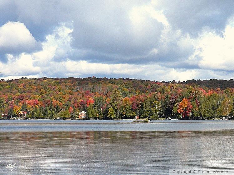 Lake George in fall