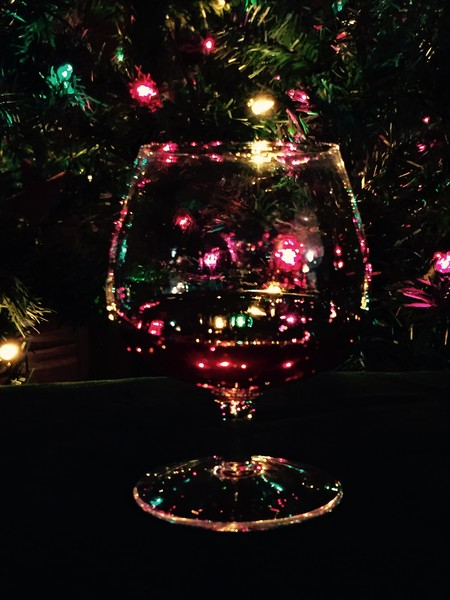 Christmas Lights in a Glass