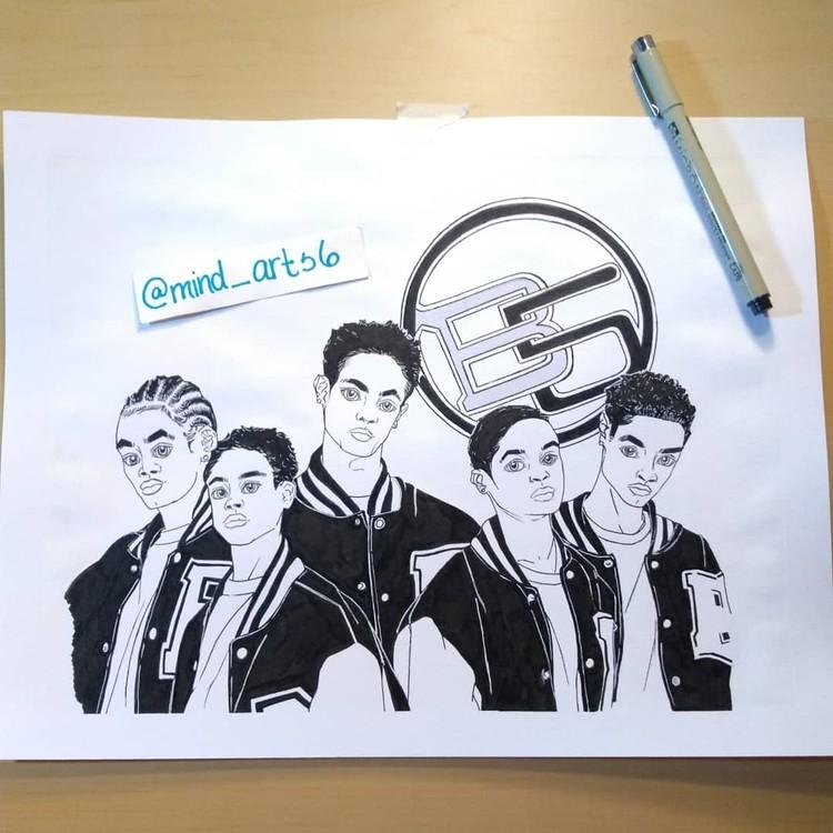 B5 album cover drawing