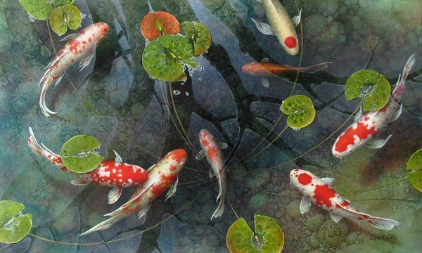 Good luck pond 3 by terry gilecki for Pond fish wanted