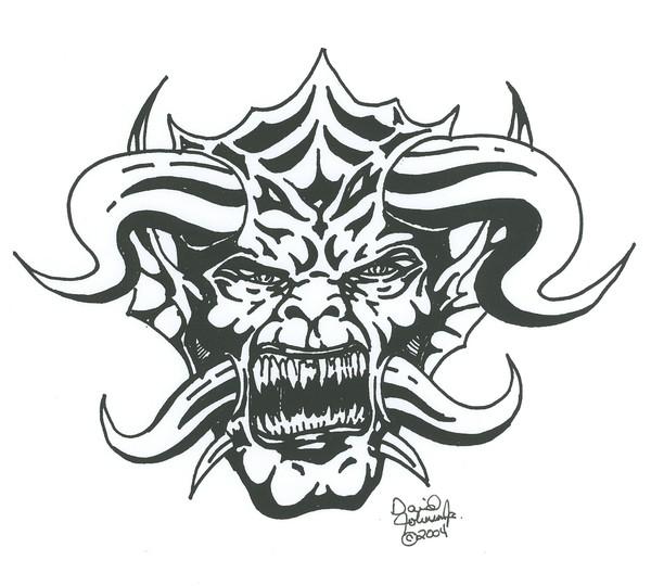 Gargoyle drawing by David Johnson Jr ArtWantedcom