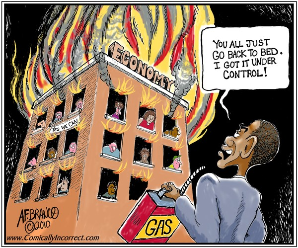 Obama Economy (Cartoon)