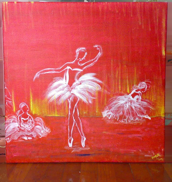 Images For > Abstract Ballet Dancer Painting
