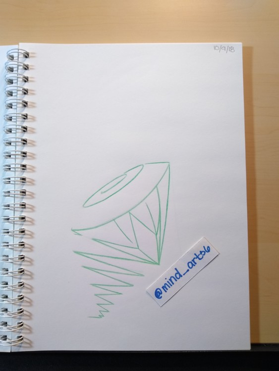 Abstract diamond sketch