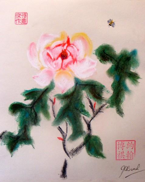 Peony - Chinese Brush style