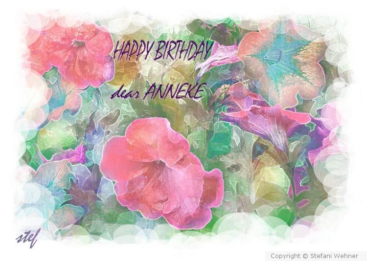 Birthday Greetings for Anneke