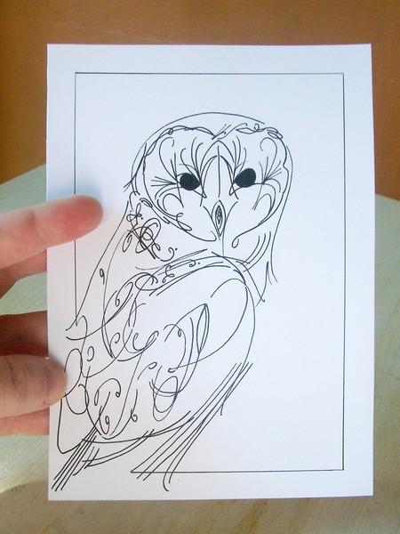 Barn Line Drawing Barn Owl Line Drawing