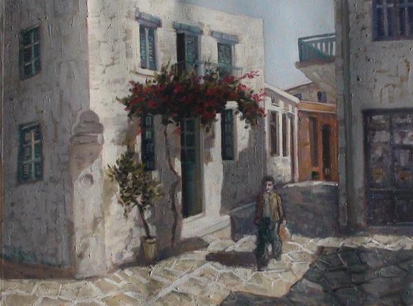 Greek island street