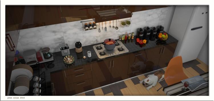 brown modern kitchen