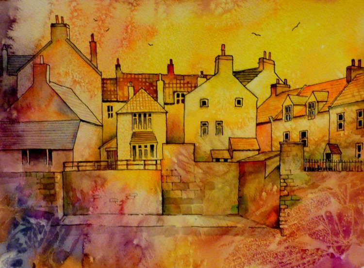 Staithes across the beck