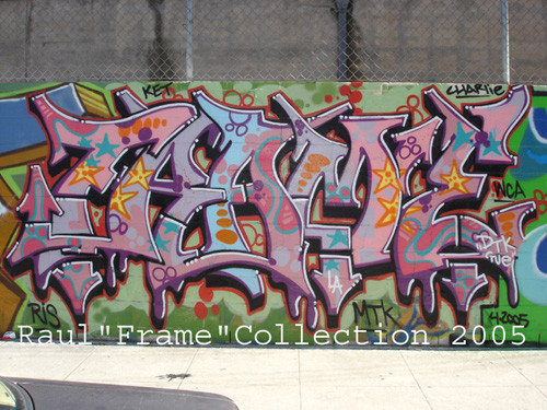 u0026quot frame u0026quot  spraycan mural on wall  by raul frame gamboa