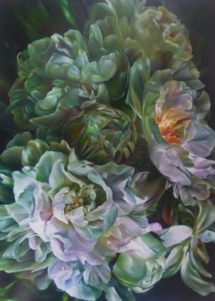 Marcella Kaspar_Evening Flutter_167x122cm_oil on l