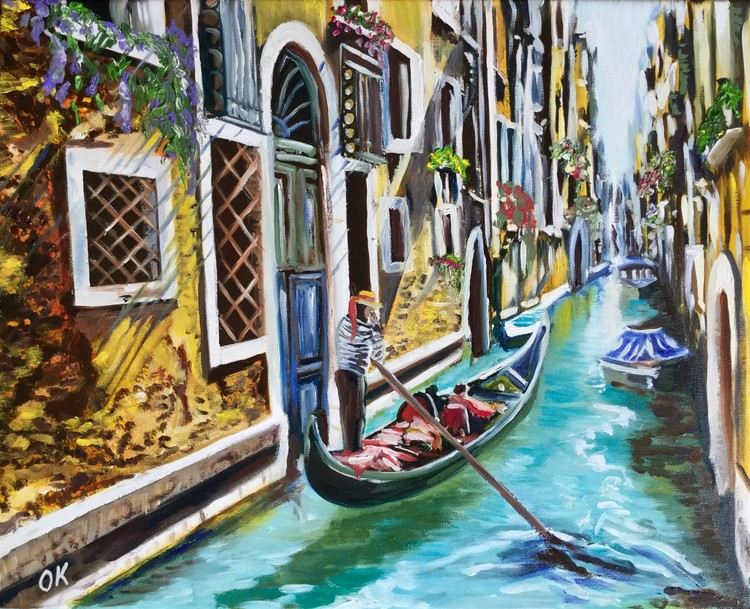 Venice. Canal. Gondolier.