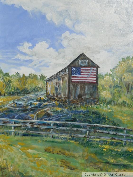 The American Flag, USA Barn