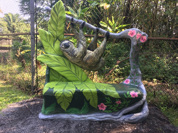 Sloth bench