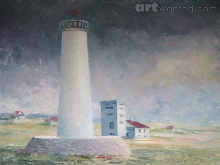 Lighthouse at Gardskaga, Iceland