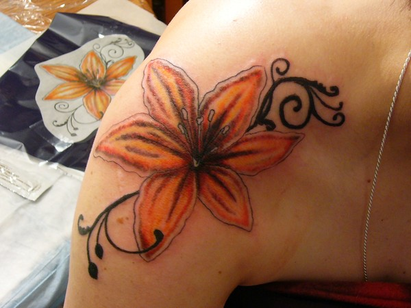Tiger lily tattoo by gayle taylor for Tiger lilly tattoos