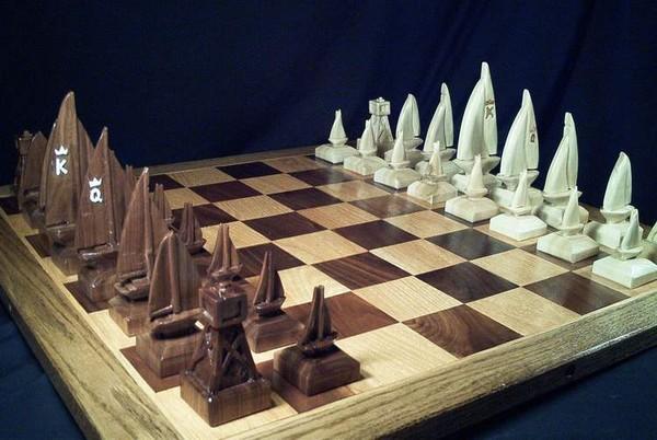 The Sailboat Chess Set