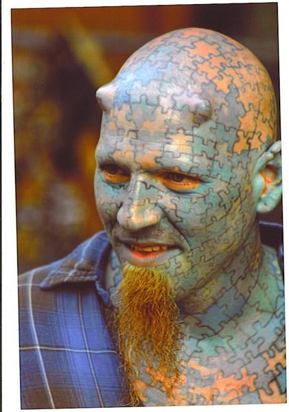 Puzzle Man Tattoo Tattoo puzzleman by william brennan