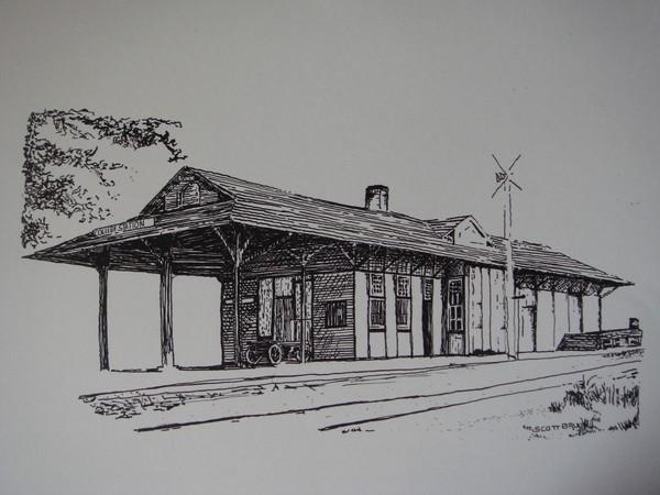 college train station by scott bruce